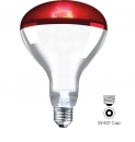 250w Infra Red Extended Life Reflector ES-E27 Hard Glass Ruby (IR250HGRES)