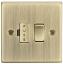Knightsbridge 13A Switched Fused Spur Unit - Square Edge Antique Brass - (CS63AB)