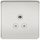 Knightsbridge Screwless 5A Unswitched Socket - Polished Chrome with White Insert - SF5APCW
