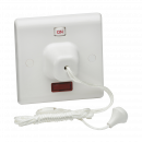 Knightsbridge 45A DP Pull Cord Switch with Neon - (SN8310N)