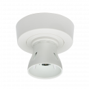 Knightsbridge T2 HO BC Batten Holder with Ceiling Rose Base 3-plate - (SN8230)