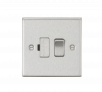 Knightsbridge 13A Switched Fused Spur Unit - Square Edge Brushed Chrome - (CS63BC)