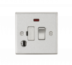 Knightsbridge 13A Switched Fused Spur Unit with Neon & Flex Outlet - Square Edge Brushed Chrome - (CS63FBC)
