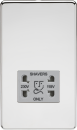 Knightsbridge Screwless 115/230V Dual Voltage Shaver Socket - Polished Chrome with Grey Insert - SF8900PCG